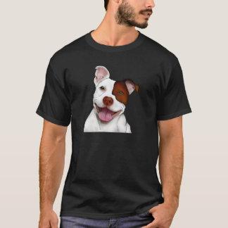 T-shirt Pitbull de sourire heureux