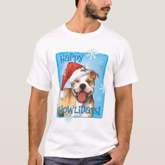 T-shirt Pitbull Terrier heureux de Howliday