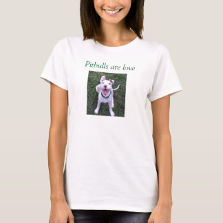 T-shirt Pitbulls sont amour