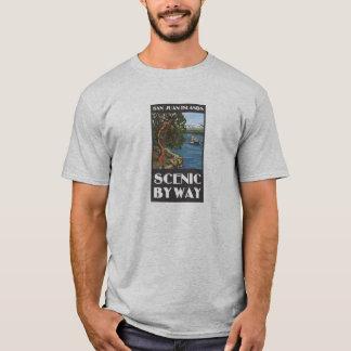 T-shirt pittoresque de chemin détourné d'îles de