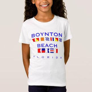 T-Shirt Plage de Boynton, FL - orthographe nautique de