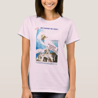 T-shirt plage de chien d'oceanside
