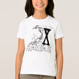 T-shirt Plage de coucher du soleil, Oahu, Hawaï