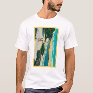 T-shirt Plage d'océan chez Carmel, CACarmel, CA