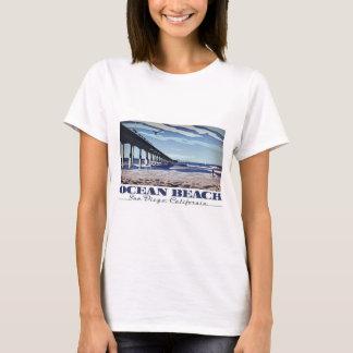 T-shirt Plage d'océan, San Diego, la Californie
