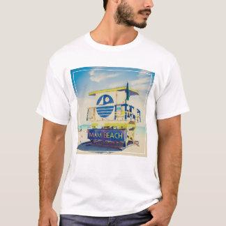 T-shirt Plage du sud de la tour | de maître nageur, Miami,