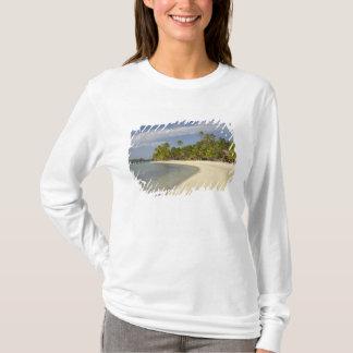 T-shirt Plage et palmiers, île-hôtel 2 de plantation