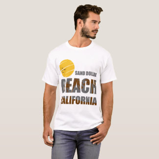 T-SHIRT PLAGE LA CALIFORNIE DU DOLLAR DE SABLE