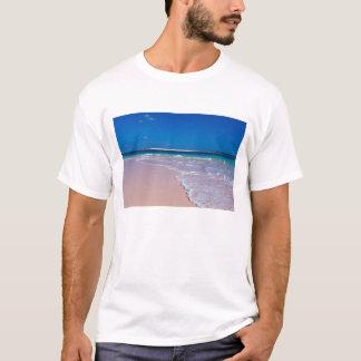 T-shirt Plage rose de sable à la baie de conque, île de