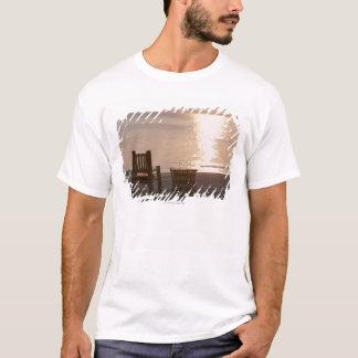 T-shirt Plage sablonneuse du coucher du soleil 2