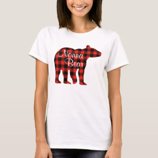 T-shirt Plaid d'ours de Nonna