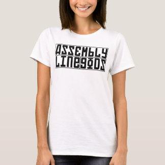T-shirt Plaine de logo de dames - noir