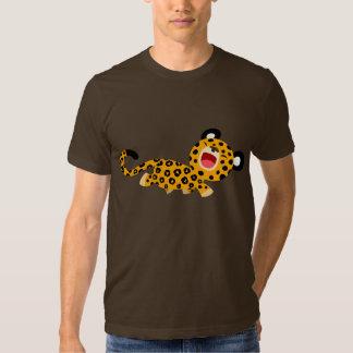 T-shirt plaisant de léopard de bande dessinée