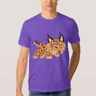 T-shirt plaisant mignon de chat sauvage de bande