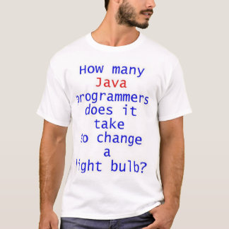 T-shirt Plaisanterie d'ampoule de programmeur de Java