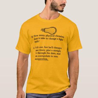 T-shirt Plaisanterie physique d'ampoule de chimiste