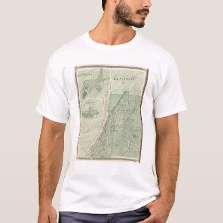 T-shirt Plan de La Fayette avec la ville de champ de