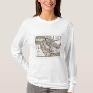 T-shirt Plan de la rapide ou des automnes de l'Ohio