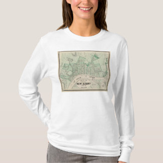 T-shirt Plan de la ville de nouvel Albany, Floyd Co,
