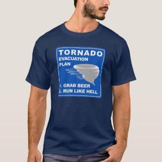 T-shirt Plan d'évacuation de tornade