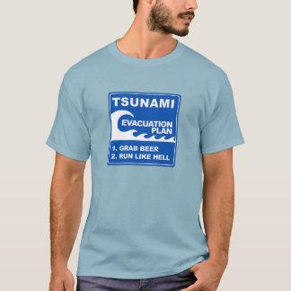 T-shirt Plan d'évacuation de tsunami