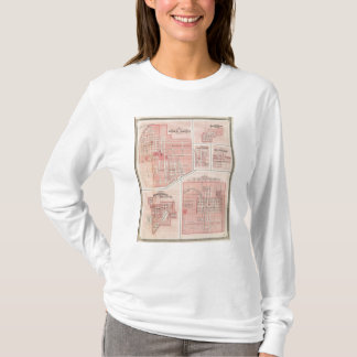 T-shirt Plan du château vert, Putnam Co avec Bloomington