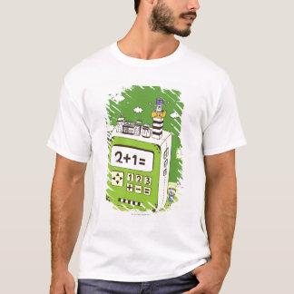 T-shirt Plan rapproché des bâtiments sur une calculatrice
