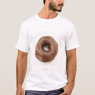 T-shirt Plan rapproché d'un beignet de chocolat d'un plat