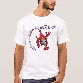 T-shirt Planche à laver de bande de bleus d'écrevisses