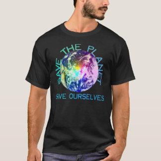 T-shirt Planète d'arc-en-ciel