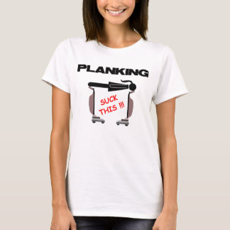 T-shirt Planking, avec le vide