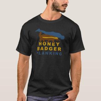 T-shirt planking de blaireau de miel