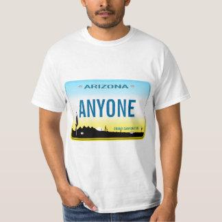 T-shirt Plaque minéralogique faite sur commande de