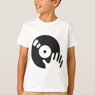 T-shirt Plaque tournante d'éraflure du DJ