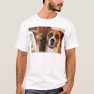 T-shirt pleurer du visage du boxeur du comportement amical