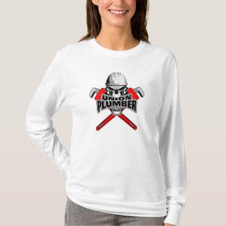 T-shirt Plombier des syndicats : Clés à crâne et à tube