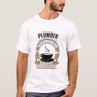 T-shirt Plombier rempli de combustible par le café