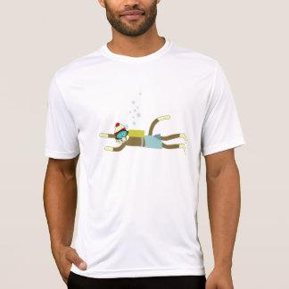 T-shirt Plongeur autonome de singe de chaussette