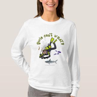 T-shirt Plongeur autonome léger de femme