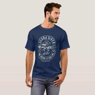 T-shirt Plongeur autonome que l'océan appelle