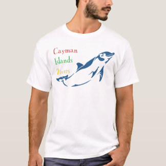 T-shirt Plongeurs des Îles Caïman - dauphin (avant)