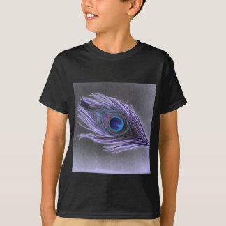 T-shirt Plume pourpre de paon sur le noir