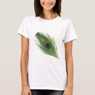 T-shirt Plume verte D de paon