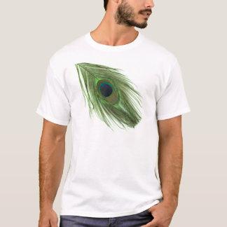 T-shirt Plume verte de paon