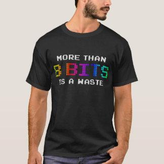 T-shirt Plus de 8 bits est des déchets