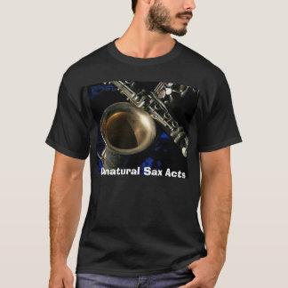 T-shirt plus de beauté de saxo, actes artificiels de saxo