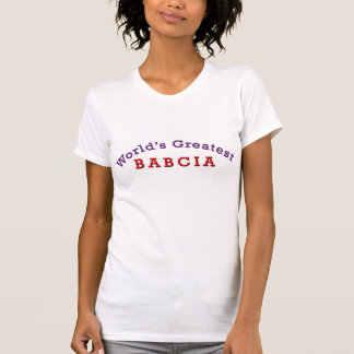 T-shirt Plus grand Babcia du monde
