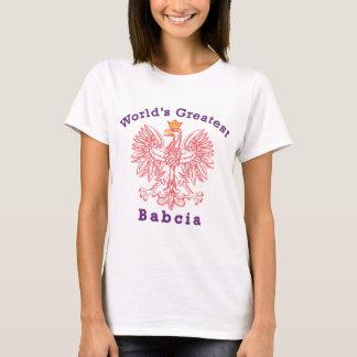T-shirt Plus grand Babcia Eagle du monde