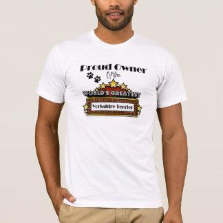 T-shirt Plus grand Yorkshire Terrier du monde fier de
