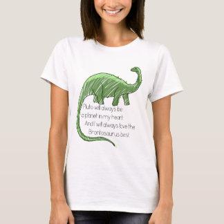 T-shirt Pluton et le brontosaure